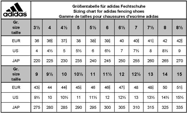 Adidas-Fechtschuhe